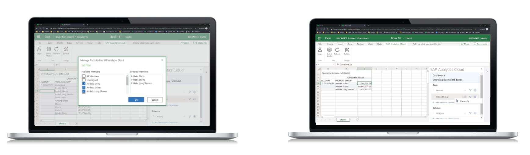 Microsoft office SAP add in 2020