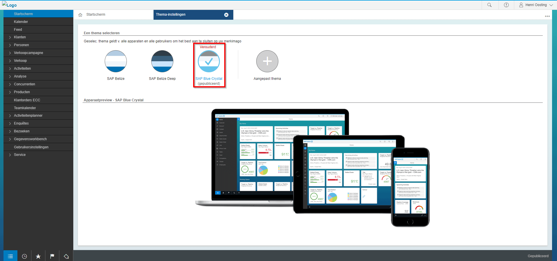 SAP Blue Crystal Thema 1902 release