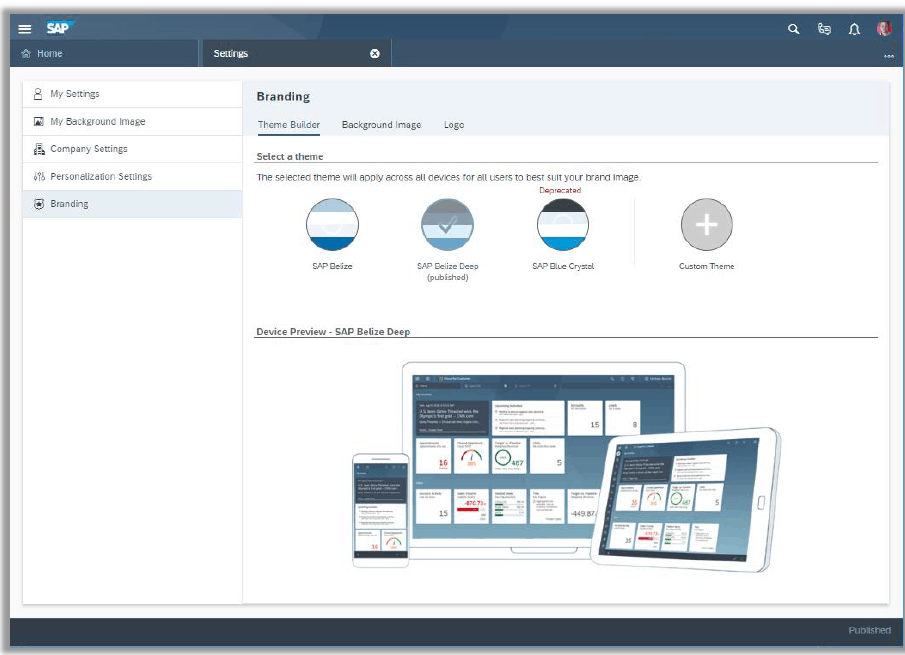 SAP Theme Builder