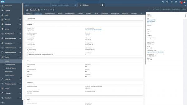 SAP ERP Company info plugin